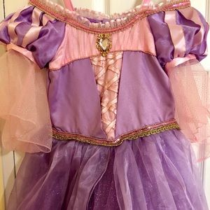Rapunzel costume with crown and wand